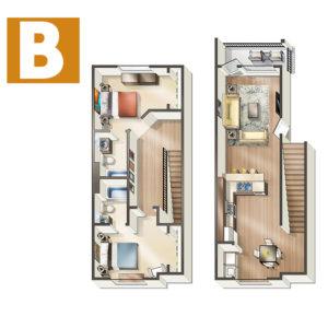 Style B: 2 BED / 2 BATH