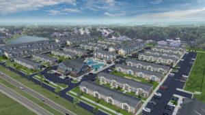 Quarters Iowa City aerial view