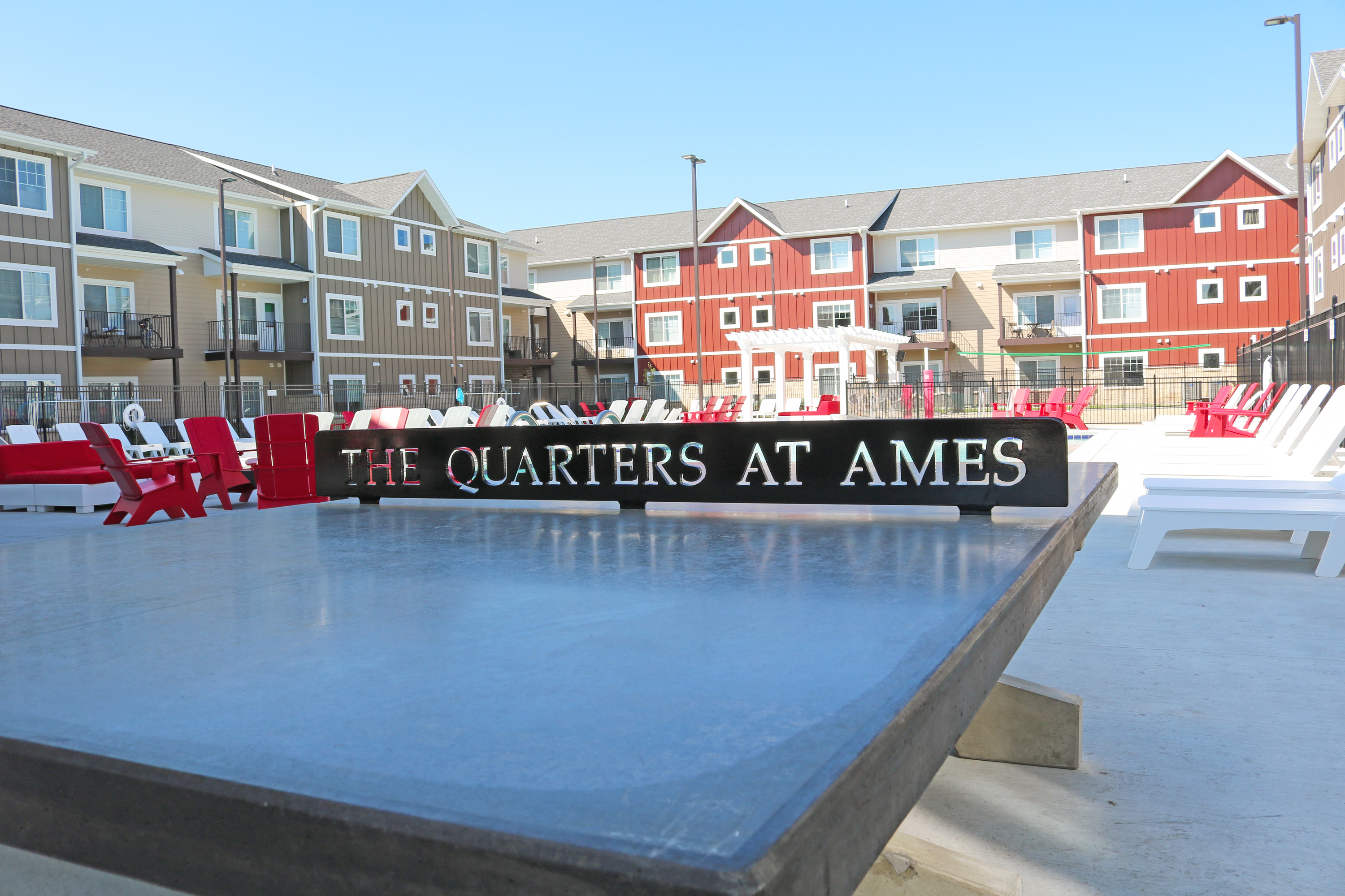 Quarters Ames outdoor ping pong table